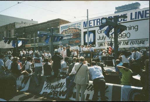 Los Angeles Metro Blue Line Grand Opening (1990). Photo: Eric Fischer/Flickr.