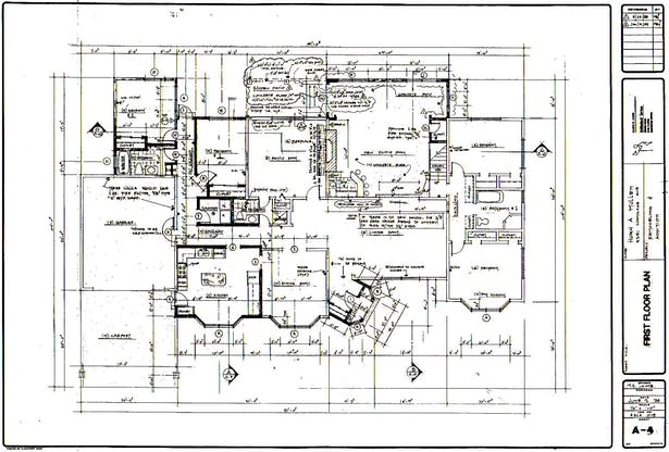 House Floor Plan, Woodland Hills, CA. Built
