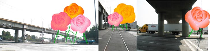 Opera Roses in Industry. (Long Beach, CA, 2010) Proposal for sculptures that emit opera arias to obliterate the noisy lifelessness of the surroundings.