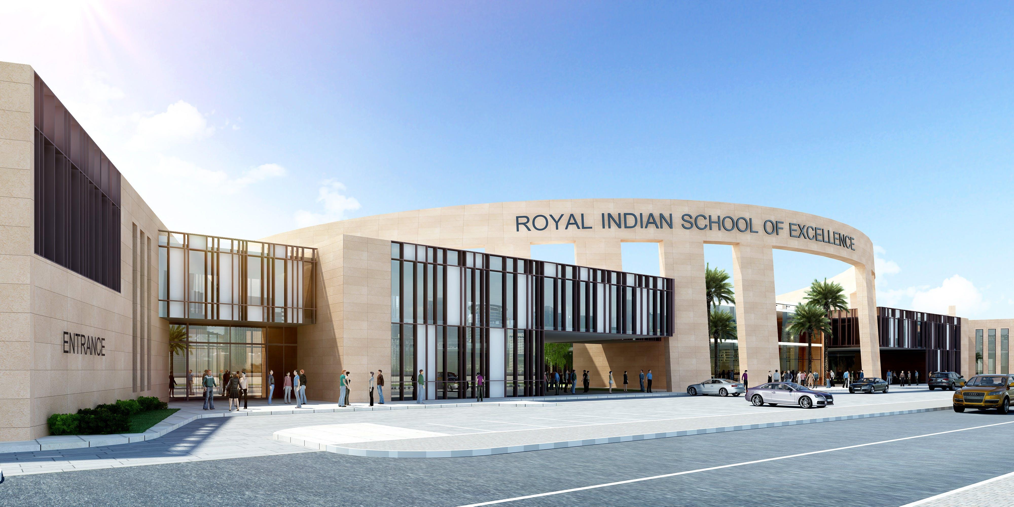 D Front Elevation Of School : Indian school uae shanad iqbal archinect