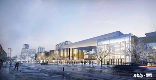 CITATION – Unbuilt Work: Lexington Convention Center. Credit: NBBJ + EOP.