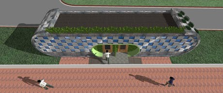 Public toilet in the city