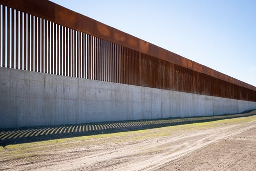 """A stretch of newly constructed border wall near McAllen, Texas. Photo: U.S. Customs and Border Protection/<a href=""""https://www.flickr.com/photos/cbpphotos/50732237083/"""">Flickr</a>"""