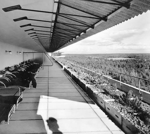 Paimio Sanitorium, by Alvar Aalto. 1929.