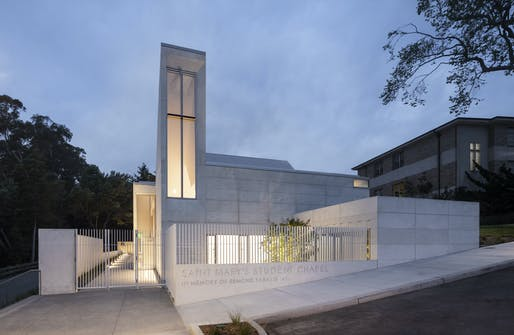 Architecture Honor: Saint Mary's Student Chapel. Honoree: Mark Cavagnero Associates. Photo: Henrik Kam.