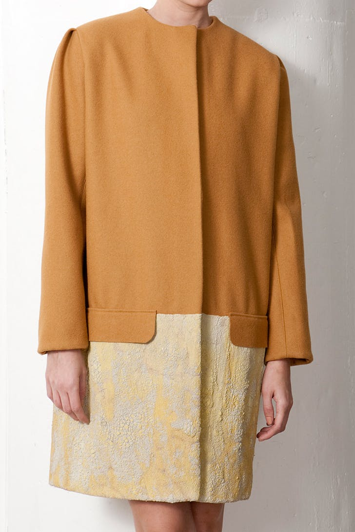 Fall/Winter 2011 Collection – felted wool coat dipped in concrete