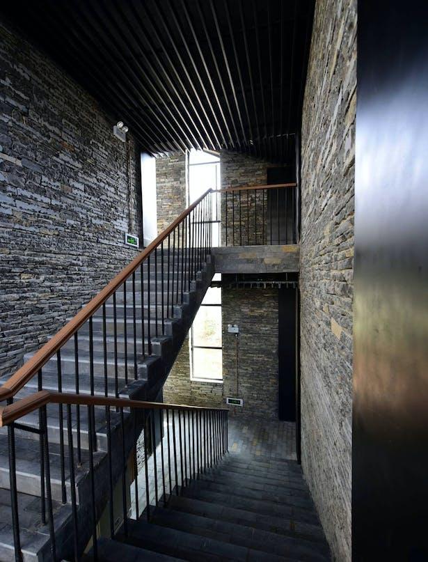 Indoor staircase Credits: West-line Studio
