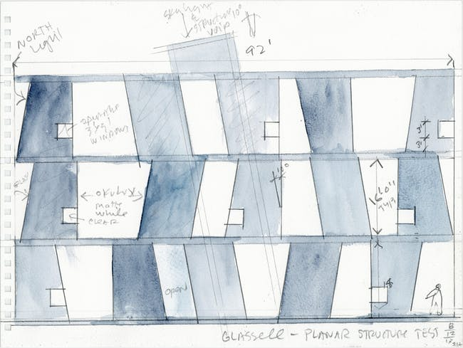 SHA Watercolor of Glassell School of Art. Courtesy of Steven Holl Architects.