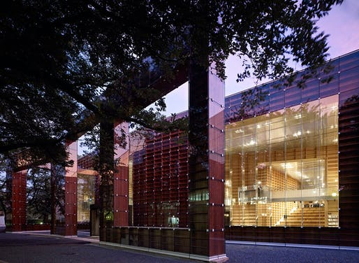 Public Building award and Overall winner for 2012: Sou Fujimoto Architects, with Musashino Art University Museum & Library Tokyo, Japan