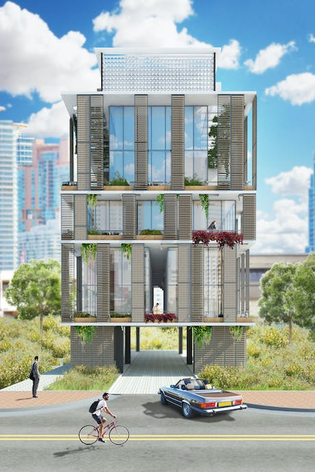 Multifamily Residential proposal in north beach