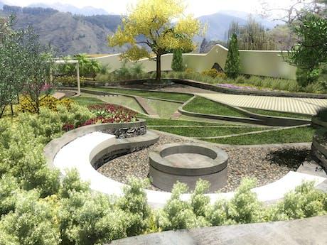 en curso - propuesta de paisajismo para Villa en Mérida, Venezuela #inprogress #encurso #landscape #architecture #arquitectura #paisajismo