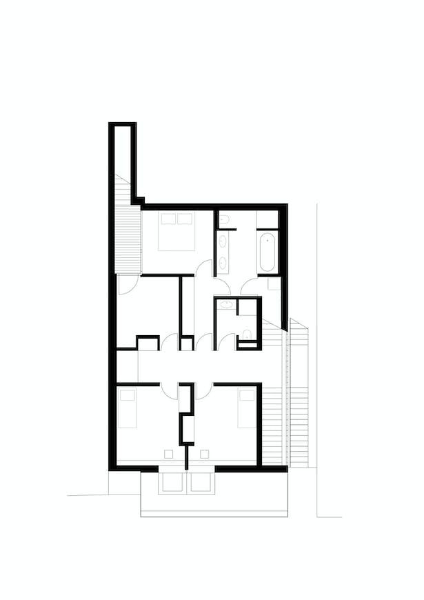 First Floor Plan Kuba & Pilař architekti