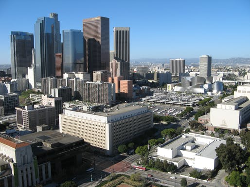 Downtown Los Angeles. Image courtesy of Wikimedia Commons / Geographer.