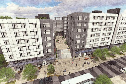 TOD is coming to Seattle's inner ring suburbs. Shown: A 254-unit development planned for a transit-owned above the forthcoming Roosevelt Station site. Image courtesy of Bellwether Housing / Mercy Housing Northwest.