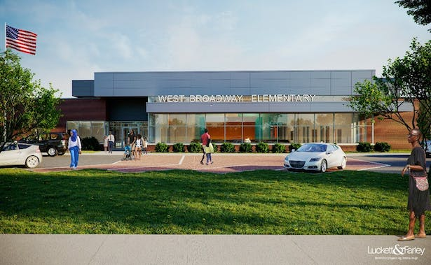 Exterior of West Broadway Elementary