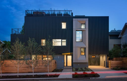 Park Passive, the first certified passive house in Seattle. Photo by Aaron Leitz.