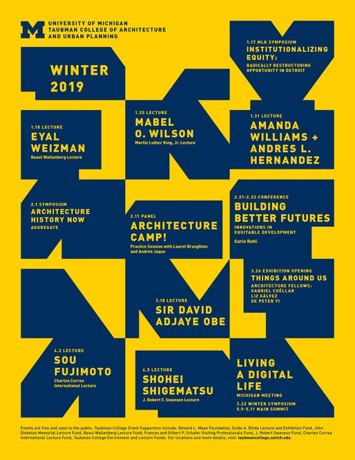 Poster courtesy of Taubman College of Architecture and Urban Planning.