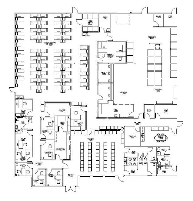Facility plan of Everett Donor Center