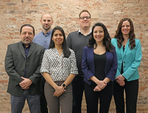 Svigals + Partners' recently promoted Associates (from left): Joseph Rufrano, Brian Stancavage, Omarys Vasquez, Jeremy Jamilkowski, Katherine Berger, Katelyn Chapin.