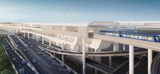 Plans for a new AirTrain link at LaGuardia airport in New York City have increased by over 400% since they were first unveiled. Image courtesy of the office of the Governor of New York.