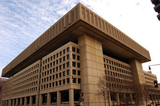 Are the days counted for the FBI's J. Edgar Hoover Building? Photo: Mark Plummer/Flickr; image via citylab.com
