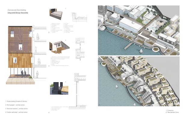 Commercial zone buildings assembly details