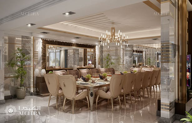 Luxury Modern Dining Room Interior Design In Dubai Algedra Design Archinect