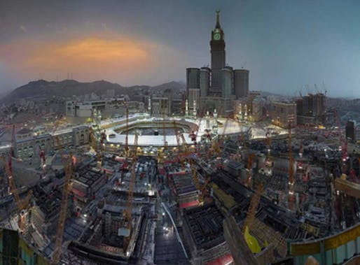 Ahmed Mater's Golden Hour, 2012. Image via theartnewspaper.com