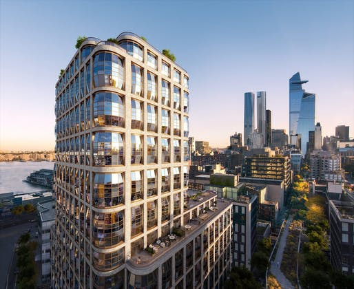 The proposed Lantern House development in West Chelsea, Manhattan. Rendering courtesy of Related Companies