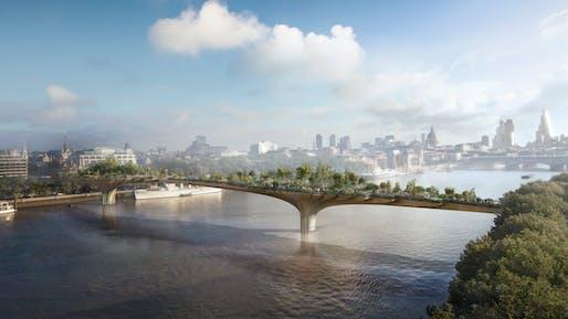 Garden Bridge. Image via Heatherwick Studio