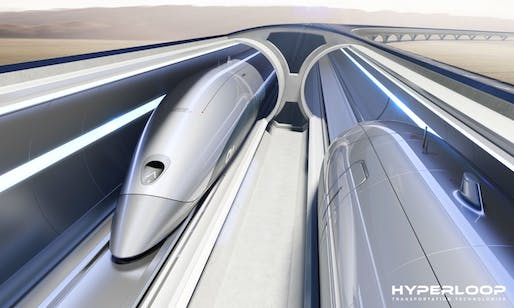 Wheeee! Image: Hyperloop Transportation Technologies.