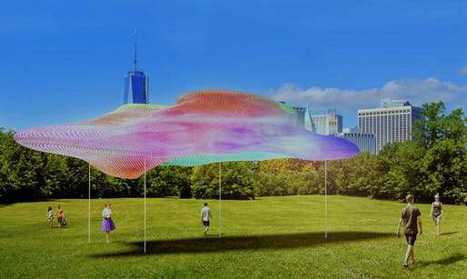 "2018 City of Dreams Pavilion finalist: ""The Rainbow Pavilion"" by Christophe Cormy Donat"