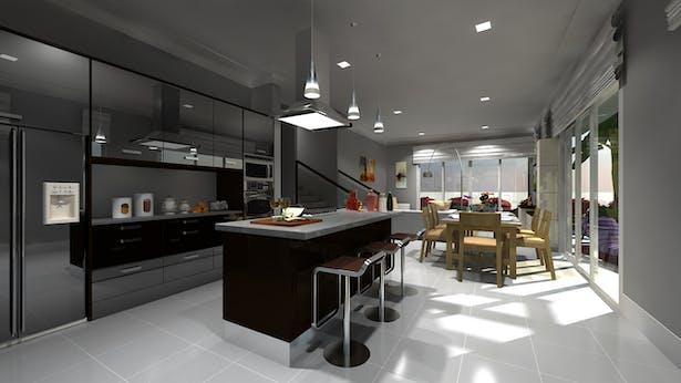 3D Kitchen Architecture Modeling