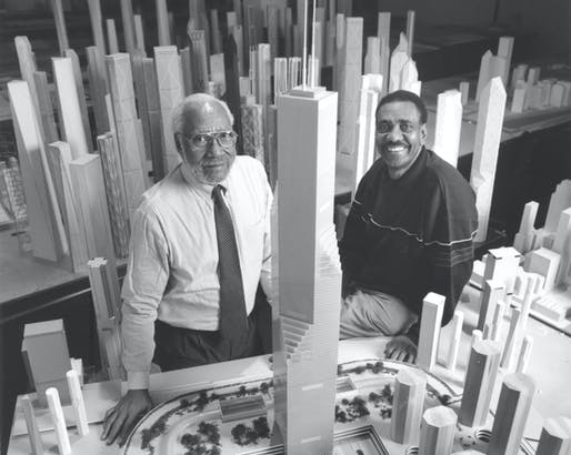 Renowned architectural educator David Sharpe, left, has passed away. Image courtesy of IIT.