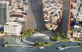 BIG, JCFO unveil twin-towered Brooklyn waterfront masterplan