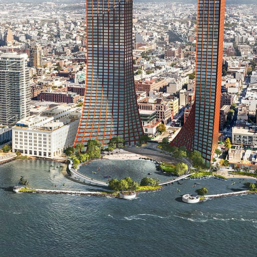 View of BIG's River Street Masterplan vision. Image courtesy of Two Trees Management.