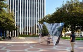 FreelandBuck designs geometrically reflective art installation for Palo Alto