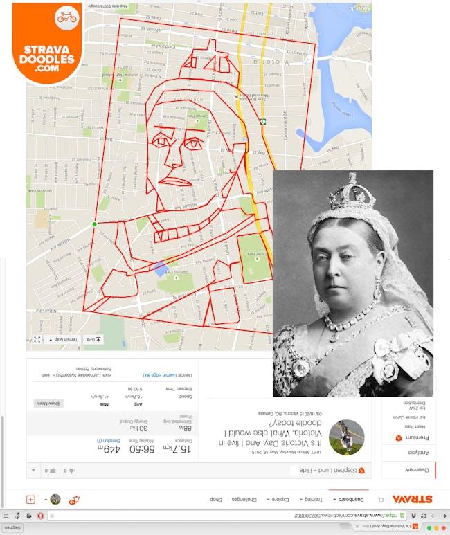 Stephen Lund: Queen Victoria (Image via gpsdoodles.com)