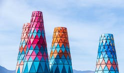 A closer look at Francis Kéré's colorful Coachella installation
