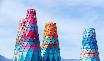 A closer look at Francis Kéré's colorful Coachella installation