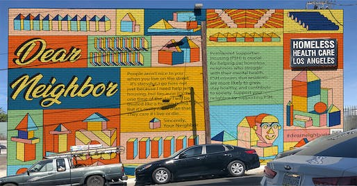 Dear Neighbor mural at intersection of Beverly and South Park View in Koreatown. Image courtesy of Image courtesy of Dear Neighbor LA