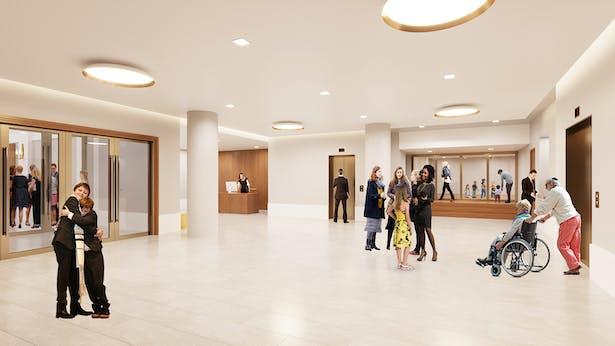 Lower lobby rendering