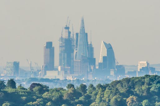 View of the London Skyline in early 2019. Image © Ian Capper.