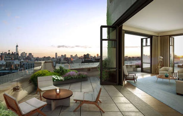 View of the Penthouse terrace