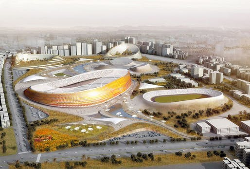 Competition-winning design for Addis Ababa Stadium and Sports City by LAVA + Designsport + JDAW (Image: LAVA)