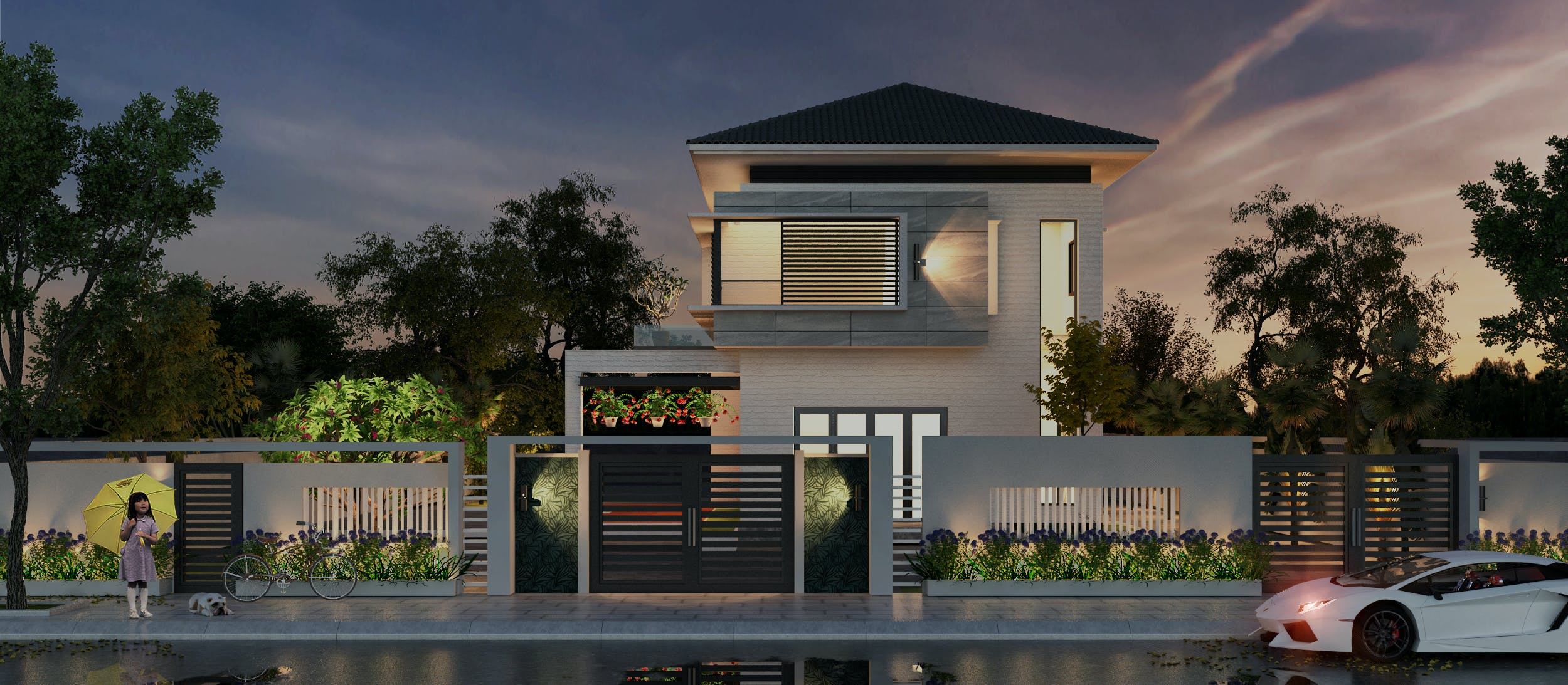Mini Modern Villa Biet Thu Dep Neohouse Architecture