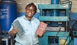 Kenyan start-up founder uses plastic to make bricks stronger than concrete