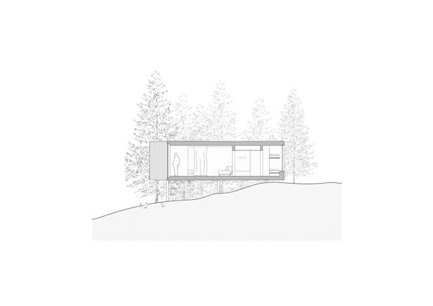 Section – Shelter Ark-shelter