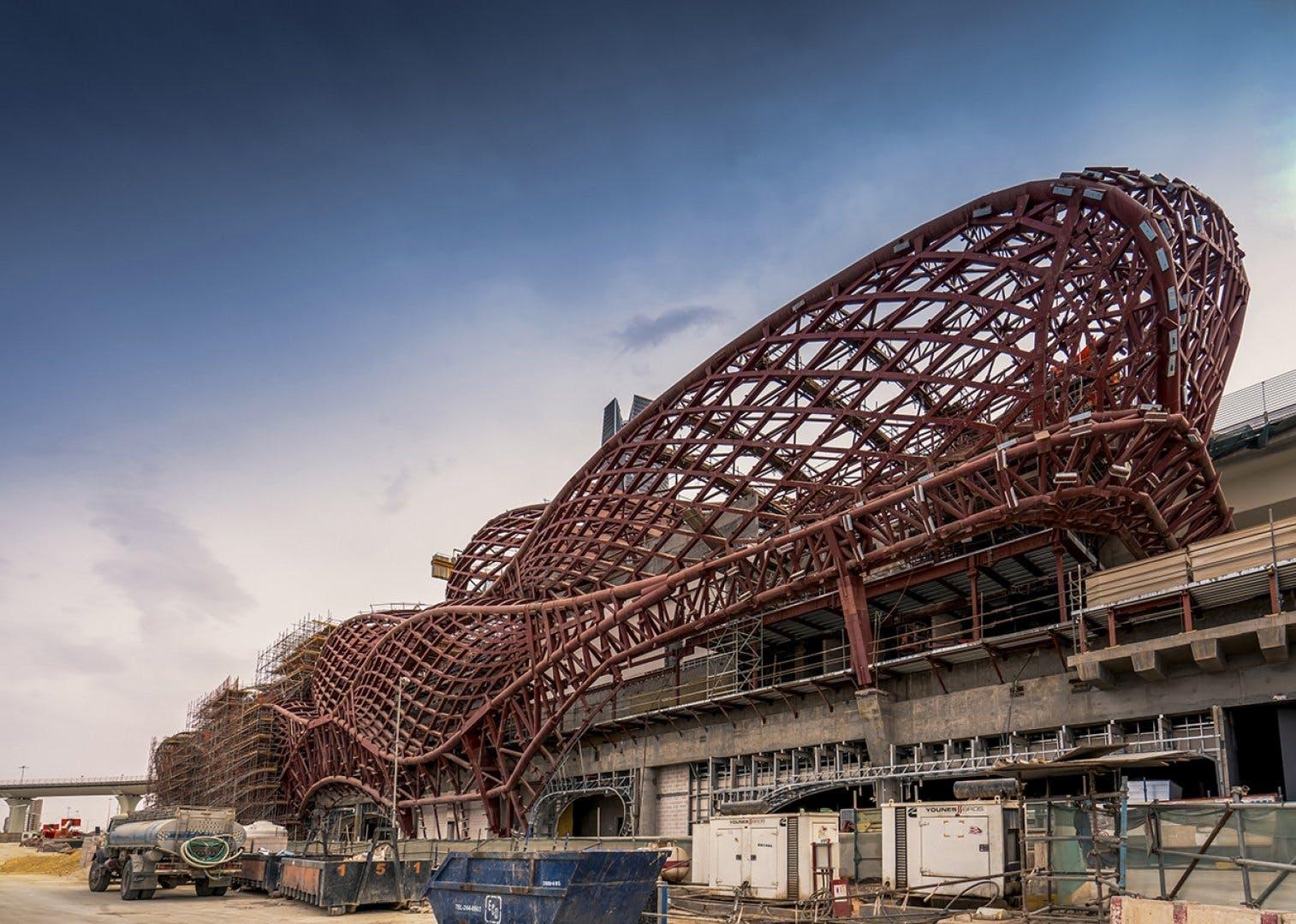New construction photos of Zaha Hadid Architects-designed