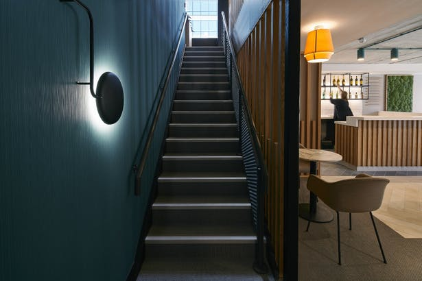 New staircase creating a link between ground and first floor spaces